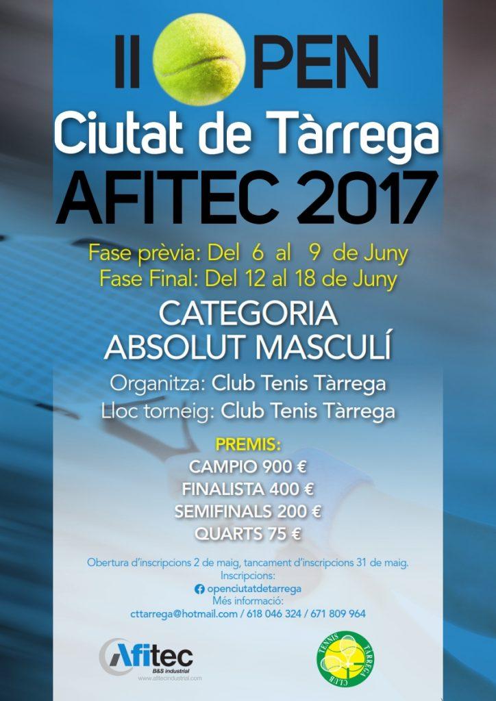 CARTELL OPEN AFITEC 2017