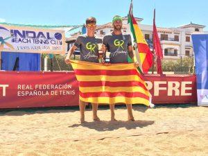 Gerard Rodriguez i Pol Filella - Campionat Master Estatal de_Tennis Platja