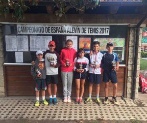 GRAN CAP DE SETMANA PER AL TENNIS CATALÀ AL CAMPIONAT D'ESPANYA ALEVÍ