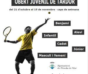 OBERT JUVENIL DE TARDOR AL CLUB TENNIS PINEDA