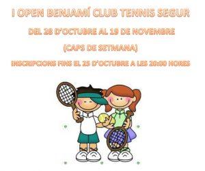 I OPEN BENJAMÍ CLUB TENNIS SEGUR
