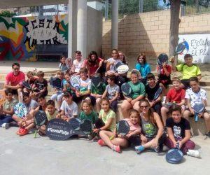 75 escolars de Tarragona han conegut el Tennis Platja