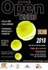 OPEN CT CALONGE 2018