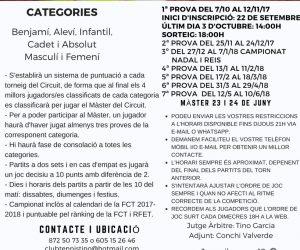 A PUNT EL II CIRCUIT JUVENIL I ABSOLUT DEL CT TINO