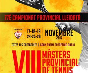 Arriba el Màsters Provincial 2017, la gran cita anual del tennis lleidatà, que arrenca aquest divendres al Sícoris