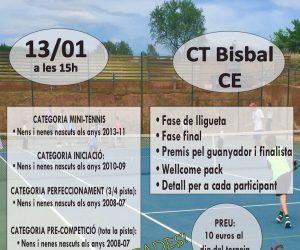 X TROBADA DE MINITENNIS, INICIACIÓ, PERFECCIONAMENT I PRE-COMPETICIÓ, EL DISSABTE 13 DE GENER AL CT LA BISBAL