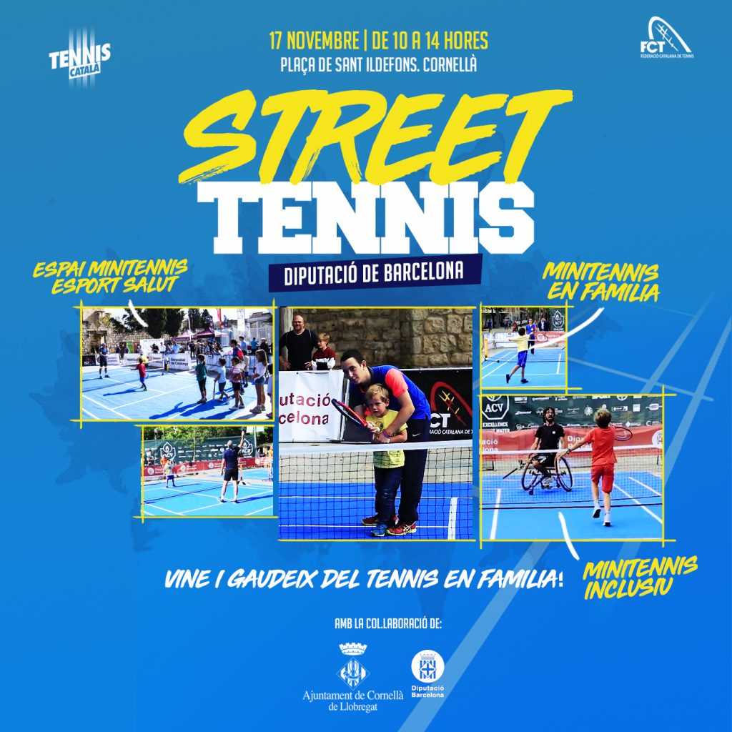 POSTER-STREET TENNIS-CORNELLA