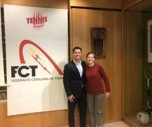 ALBA GAMELL, NOVA RESPONSABLE DE TENNIS PLATJA DE LA JUNTA DIRECTIVA FCT