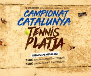 EL CAMPIONAT DE CATALUNYA DE TENNIS PLATJA, EL 28 DE SETEMBRE A VILANOVA I LA GELTRÚ
