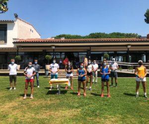 RAQUEL CABALLERO I GERARD CAMPAÑA, CAMPIONS DE CATALUNYA CADET AL CT GIRONA