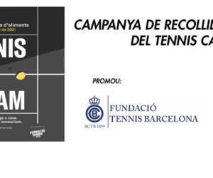 CAMPANYA TENNIS VS LA FAM: programa de recollida d'aliments del Tennis Català