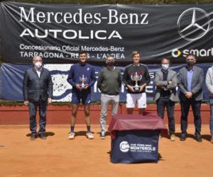 Matteo Martineau, campió del Torneig Internacional de Tennis ITF World Tennis Tour Autolica Mercedes Benz del Monterols